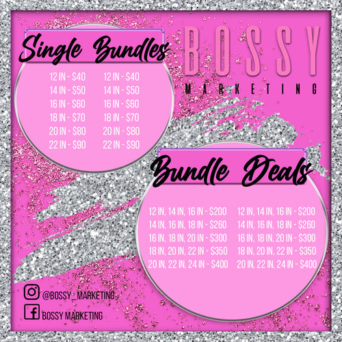 Glitz and Glam Price List (Pink and Silver)