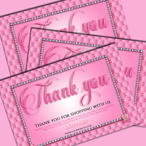 Pink Plush Thank You card