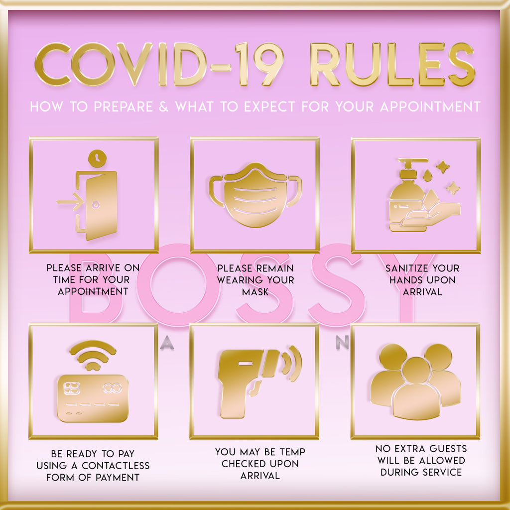 Covid-19 Rule Flyer-Purple and Gold
