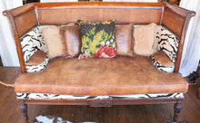 Load image into Gallery viewer, Rustic Leather Cowhide Sofa (In-Store Pickup Only)