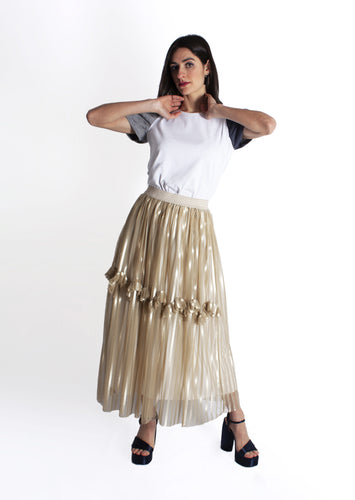 Striped tulle skirt