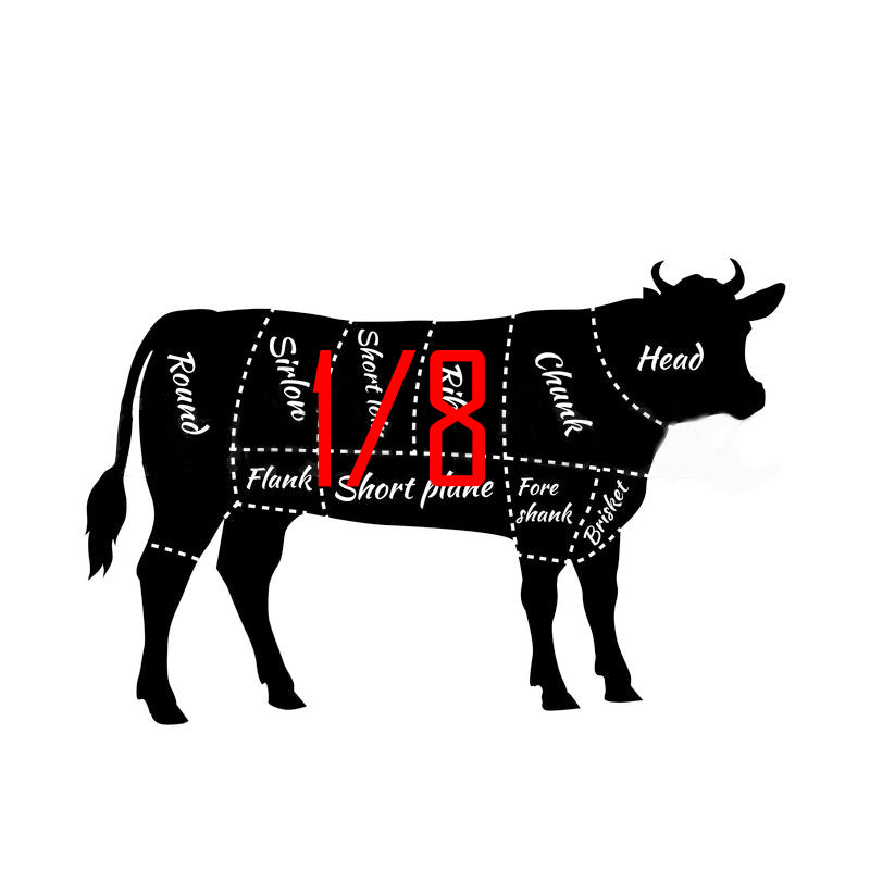 Reserve Your 1/8 Beef Standard Pack-Local Pickup