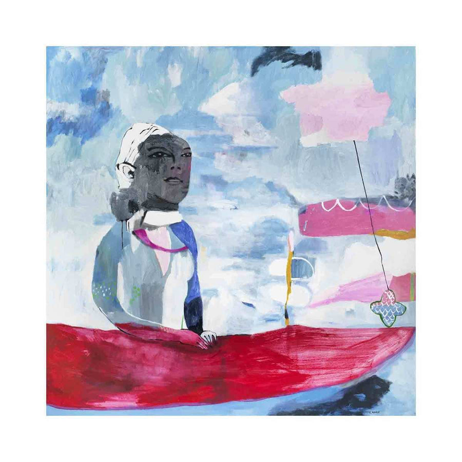 Girl On Boat With Gelato Cloud