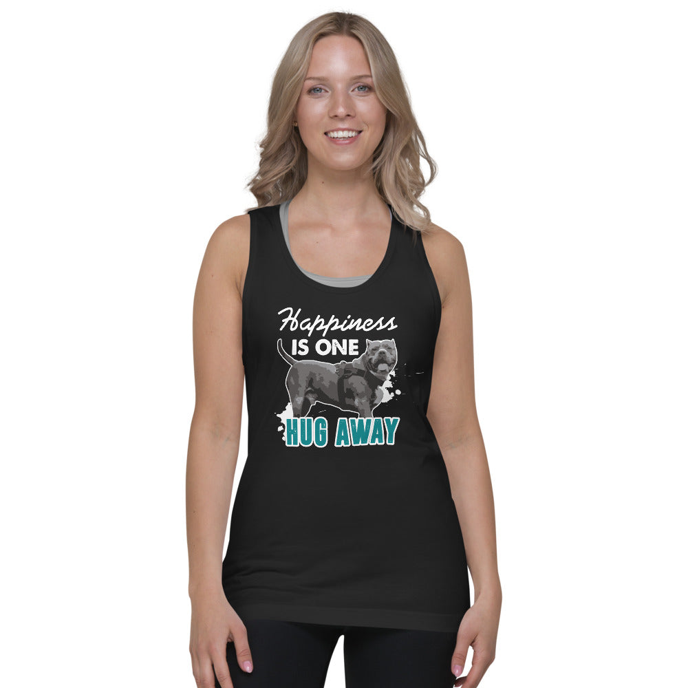 Happiness Is Just One Hug Away Classic Tank Top (unisex)