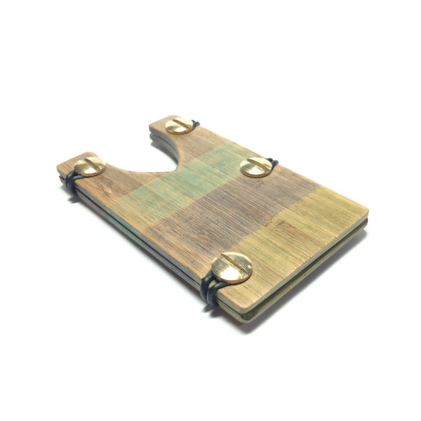 Bamboo Wallet ( Green Theme) - Bound Tight Wallets