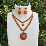 Coral beads necklace NKC636