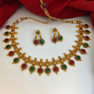 Multi stone necklace NKC618