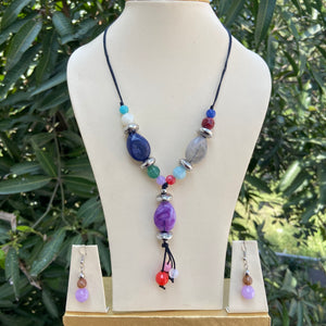 Rope beads necklace NKC626
