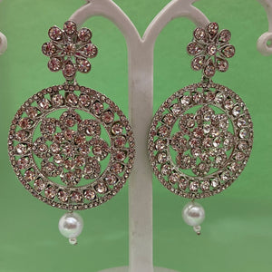White stone earrings ES918