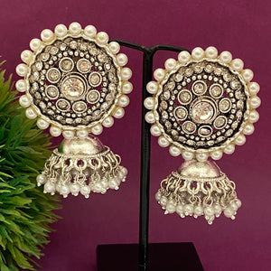 White round top jhumka ES997