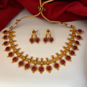Antique ruby necklace NKC617