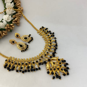 Micro polish black necklace NKC658