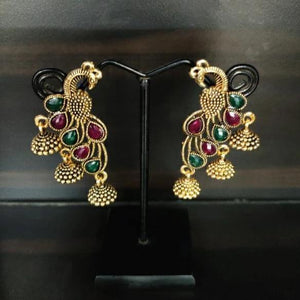 The Intricate Peacock Earrings ES715 | Sunu's Fashions