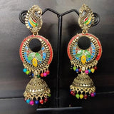 Multicolored Peacock Earrings ES657 | Sunu's Fashions