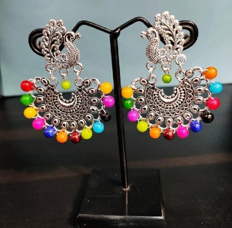 Peacock Chandbali Earrings ES671 | Sunu's Fashions