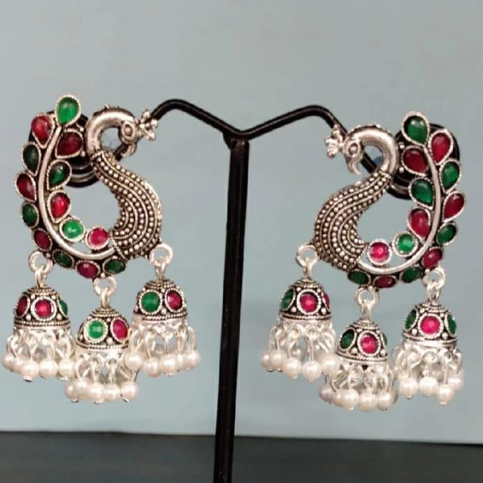 Embellished Oxidized Earring ES616 | Sunu's Fashions