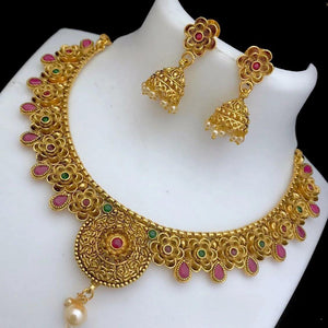 Antique Floral Necklace NKC165 | Sunu's Fashions