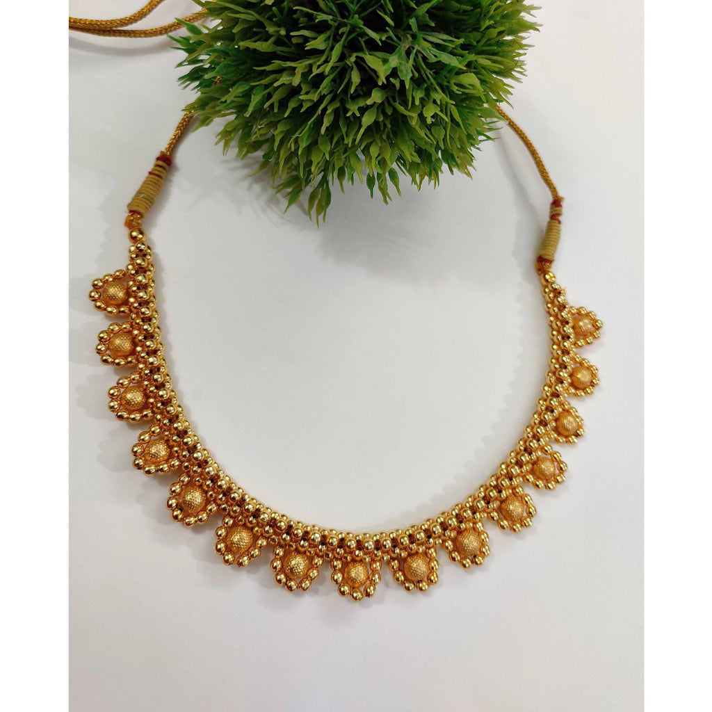Golden Beads Necklace NKC188 | Sunu's Fashions