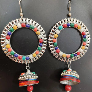 Metal Earrings With Thread Work ES650 | Sunu's Fashions