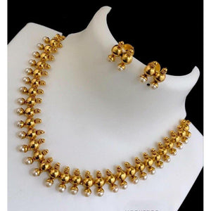 Antique Golden Beads Neckpiece NKC161 | Sunu's Fashions