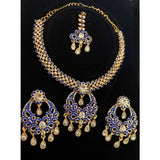 Blue Stone Party Wear Necklace Set NKC175 | Sunu's Fashions