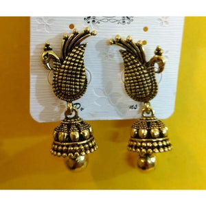 Golden Peacock Earrings ES628 | Sunu's Fashions