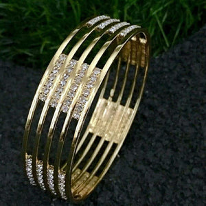 Symmetric Style Stone Bangle B18 | Sunu's Fashions