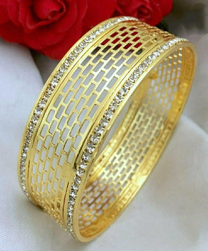 Geometric White Stone Bangle B16 | Sunu's Fashions