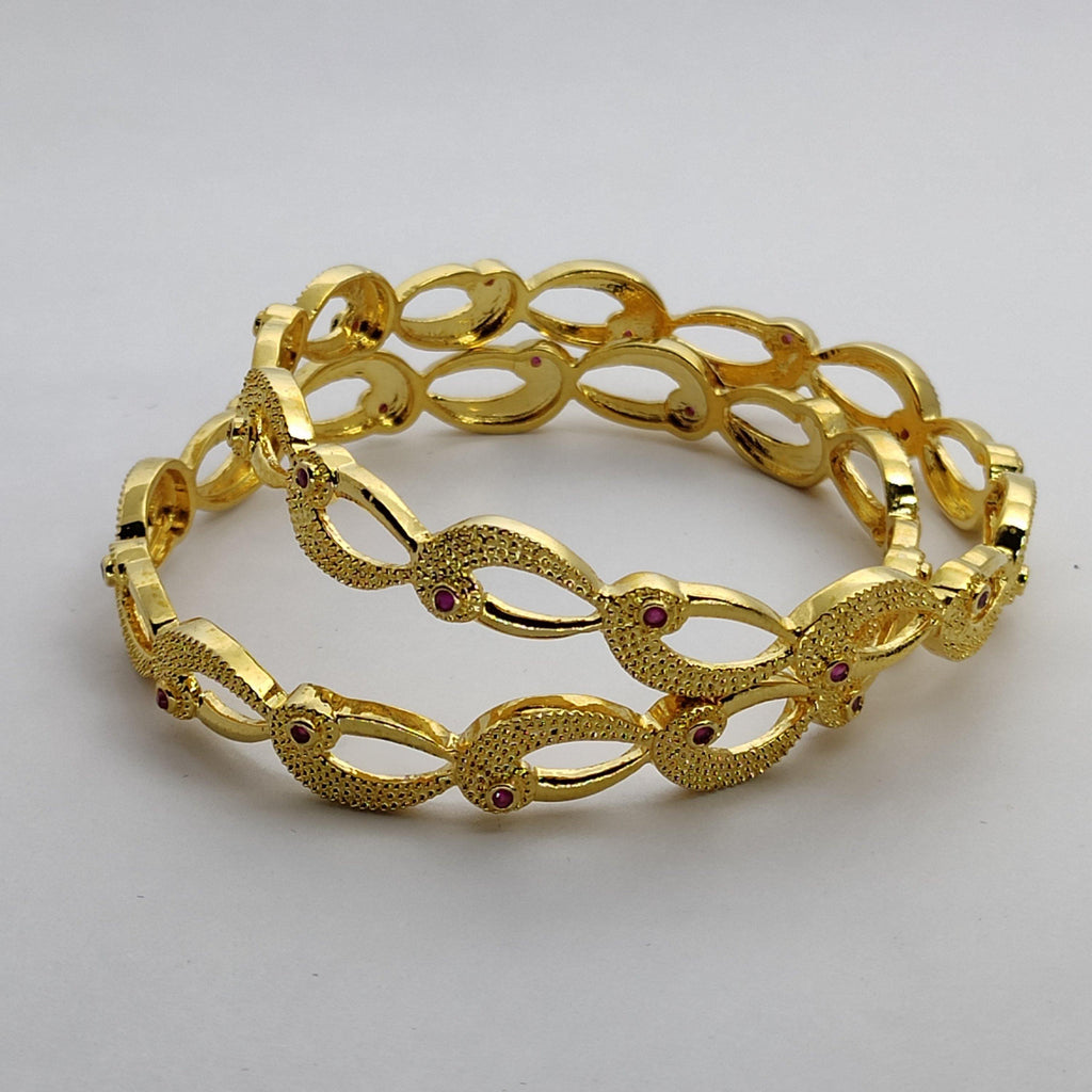 Gold Plated AD Stone Bangle B20 | Sunu's Fashions