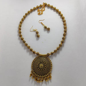 Antique Gold  Necklace NKC257 | Sunu's Fashions