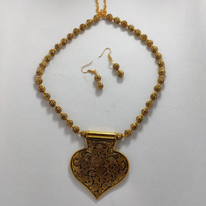 Antique Gold Necklace NKC256 | Sunu's Fashions