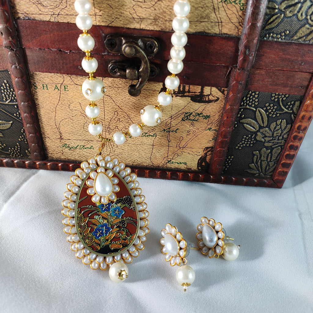 Elegant Pearl Necklace NKC262 | Sunu's Fashions