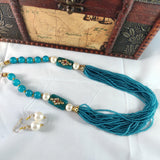 Skyblue Beaded Necklace NKC266 | Sunu's Fashions