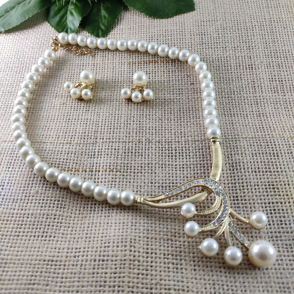 Eminent White Pearl Princess Necklace NKC271 | Sunu's Fashions