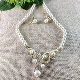 Eminent White Pearl Princess Necklace NKC270 | Sunu's Fashions