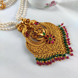 Matte Finish Lakshmi Pendant Necklace NKC305 | Sunu's Fashions