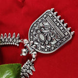 Oxidised Silver Tribal Pendant Necklace NKC310 | Sunu's Fashions