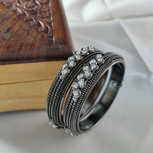 Oxidised Black Metal Bangles B52 | Sunu's Fashions