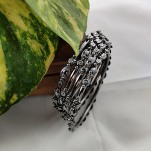 Oxidised Black Metal Bangles B55 | Sunu's Fashions