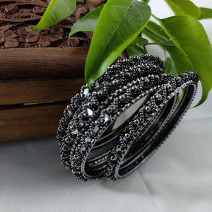 Oxidised Black Metal Bangles B54 | Sunu's Fashions