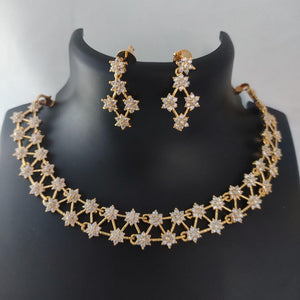 Exclusive AD Necklace Set NKC337 | Sunu's Fashions