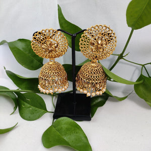 Golden Round Top Jhumkas ES798 | Sunu's Fashions