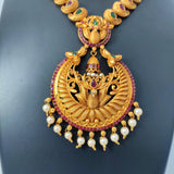 Traditional Antique Gold Necklace NKC322 | Sunu's Fashions