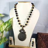 Black Coral Beads Necklace NKC156 | Sunu's Fashions