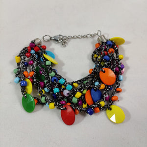 Multicolored Beads Thread Bracelet B74 | Sunu's Fashions