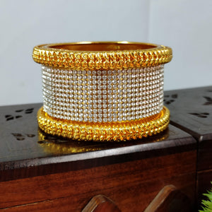 Gorgeous Golden Broad Bangle B73 | Sunu's Fashions