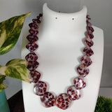 Leoperd Print Square Beads Necklace NKC374 | Sunu's Fashions