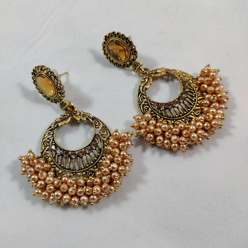 Trendy Peach Loriyal Earrings ES809 | Sunu's Fashions
