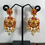 Matte Finished Floral Danglers ES806 | Sunu's Fashions
