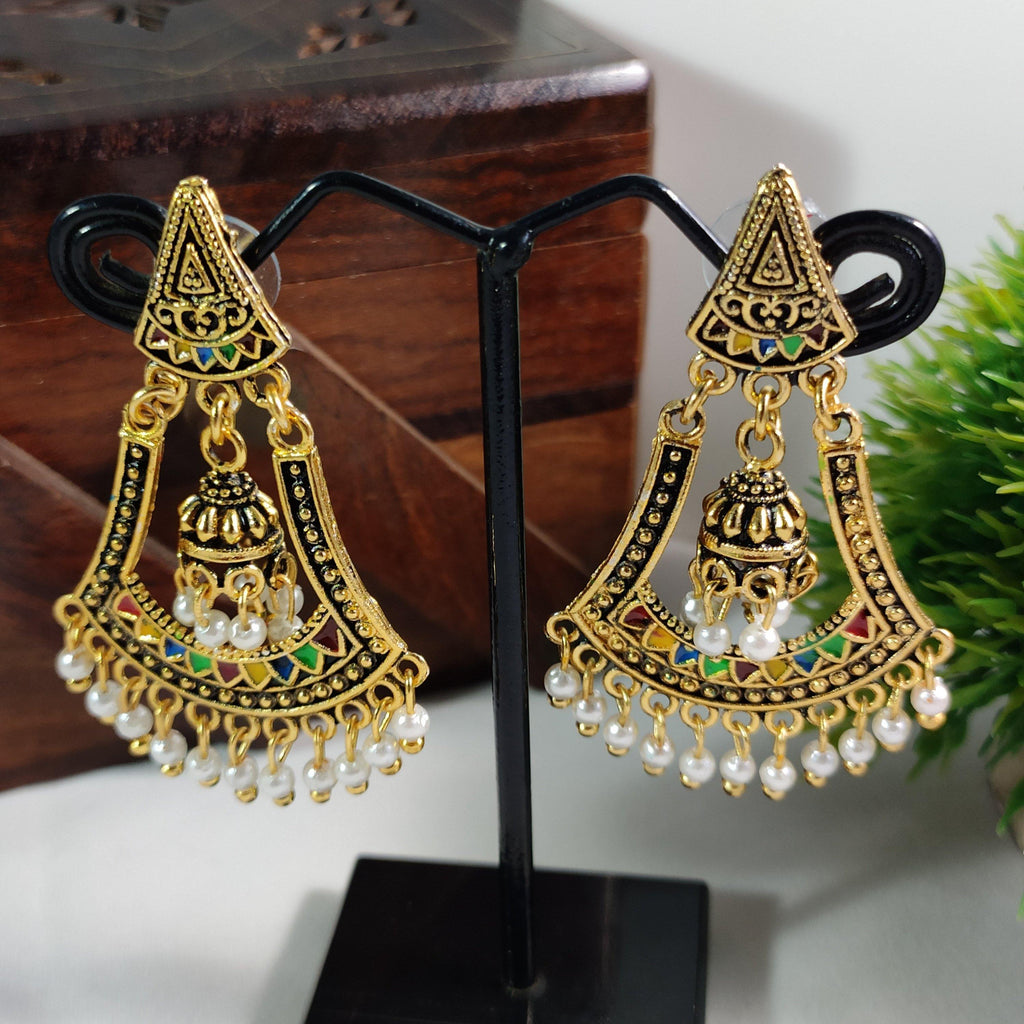 Jhumka Pinned Bell Earrings ES805 | Sunu's Fashions